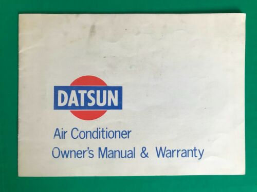 DATSUN 240Z, 510, L521, 1200 ORIGINAL AIR CONDITIONER OWNER