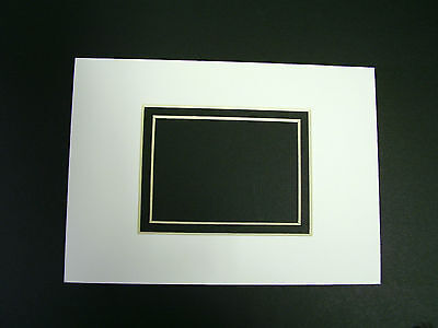 Picture Mat for framing White with Black liner 5x7 for 2.5x3