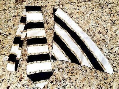 1 Henri Christian Silk Neck Tie and Pocket Square New York Paris Great Britain Henry New York Tie