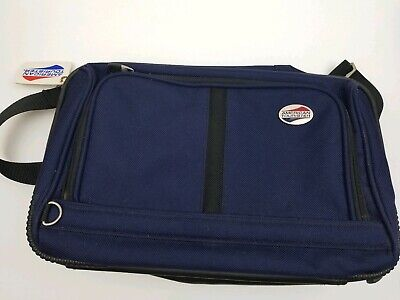 American Tourister Shoulder Bag  Luggage Blue Lightweight Carry On PREOWNED American Tourister Lightweight Suitcase