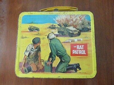 Nice Vintage Lunchbox Lunch Box The Rat Patrol TV Show 1967 Aladdin Industries
