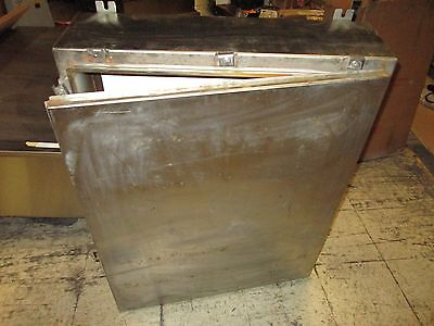 Austin Co. Stainless Steel Enclosure Size 36x30x8 W Back Plate Used