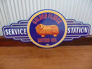 Golden Fleece Motor Oil service station metal tin sign bar garage petrol gas