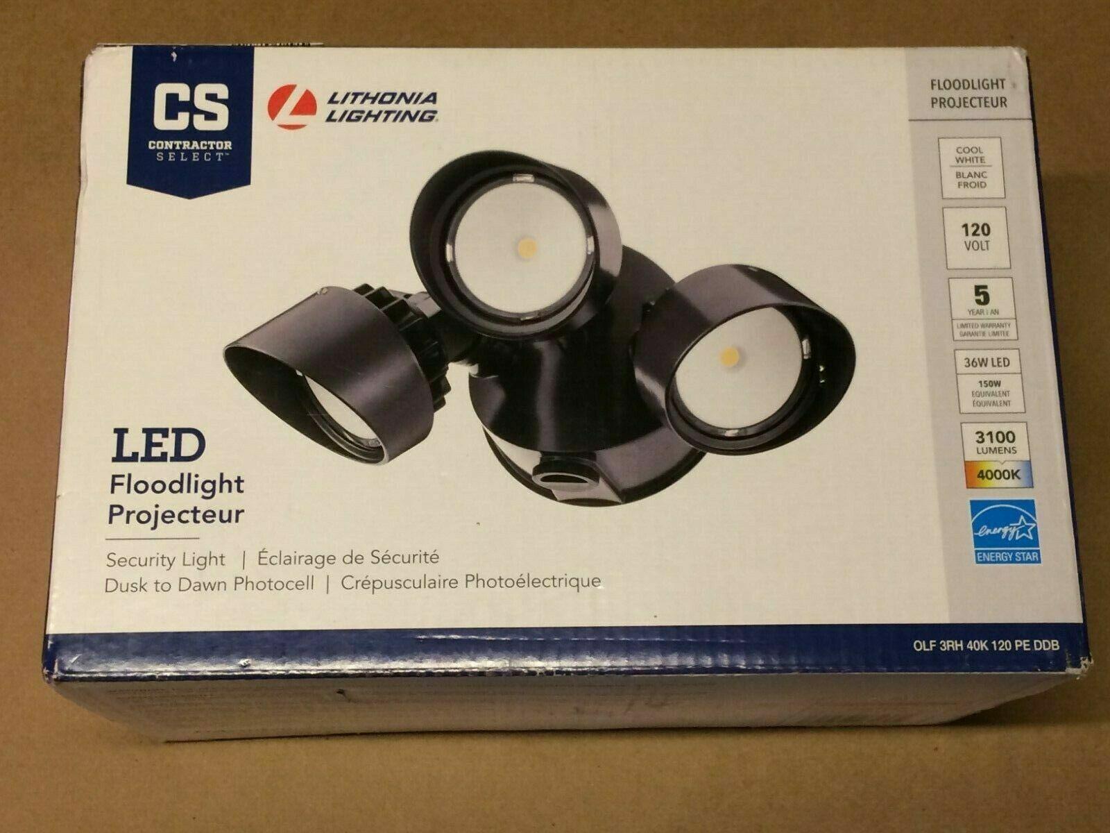 NEW! Lithonia Lighting 200-Watt Bronze Integrated LED Dusk-t