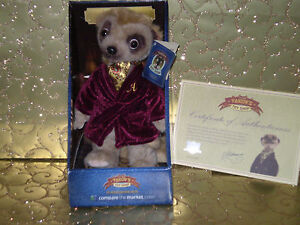 Aleksandr-Compare-The-Market-Meerkat-Soft-Toy-with-Certificate-Eartag-Box-New