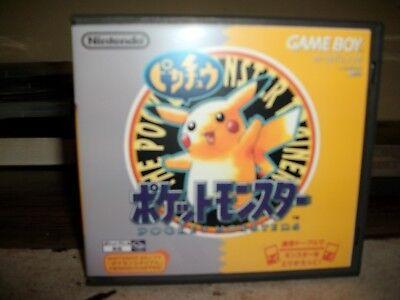 Pokémon Yellow Version Japan(Refurb & New Save Battery)in custom GB case & cover