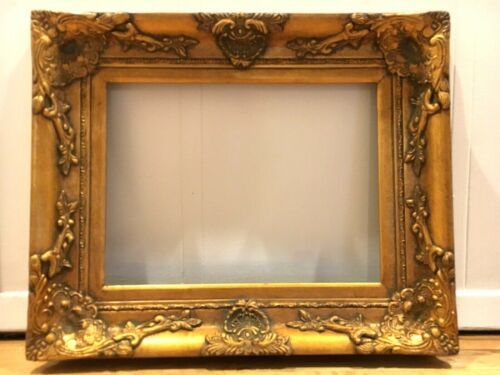 """Antique Reproduction Gold Gilt Vintage Picture Frame Opening 12""""x16"""""""