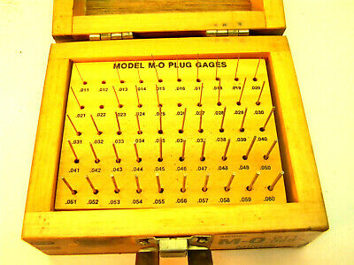 Meyer M-0 Minus Plug Pin Gauge Gage Set. .011-060. Machinist Mechanic