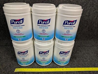 (6 Canisters (6x175) PURELL 9031 Antimicrobial Sanitizing Wipes - NEW Free Ship)