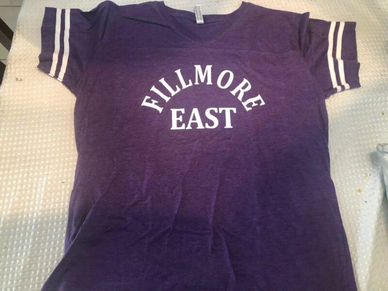 Fillmore East T Shirt Jersey Jimi Ladies Women Allman Brothers Purple XL Repro