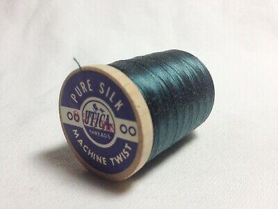 Size 00 Charcoal Gray #8736 SILK THREAD~925 Yard Spool Utica//Gudebrod~Rod Wrap