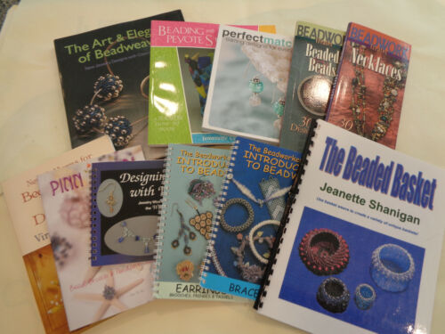 Beading, Beadwork Jewelry Instant Library Book Lot (11 Different Books) #2