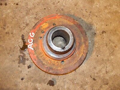 Allis Chalmers G Tractor Ac Engine Motor Main Crankshaft Crank Pulley Fr Belt