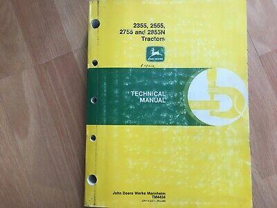 John Deere 2355 2555 2755 2855 Tractor Technical Service Repair Manual Tm4434