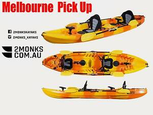 Double Sit-On Family Kayak 2.5 3.7M incl Rod Holders seat Paddle Wantirna South Knox Area Preview
