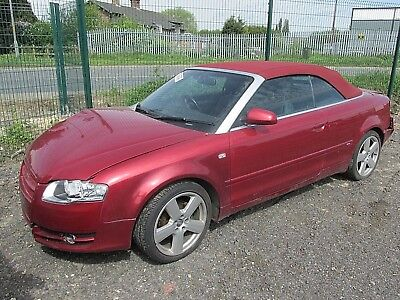 2008 AUDI A4 CABRIOLET 20TDI IN BURGUNDY  RED   BREAKING FOR SPARES OR REPAIRS
