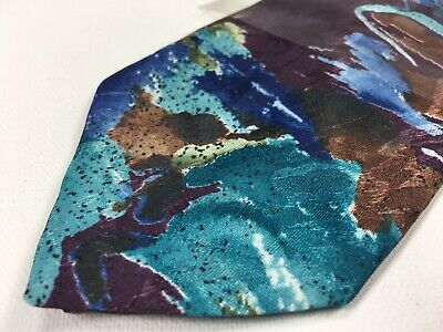 Tall Mens Tie (Executive Big & Tall Mens Necktie Blue Red Abstract Pattern Tie 16D)