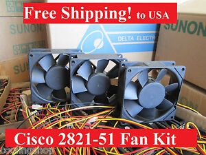 Cisco-2821-2851-Router-Replacement-Fan-Kit-3-New-Fans-ACS-2821-51-FANS