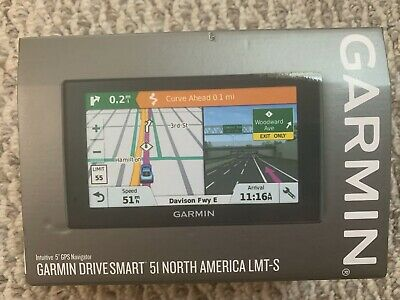 Garmin DriveSmart 51 LMT-S Lifetime North America Maps & Traffic GPS Navigation