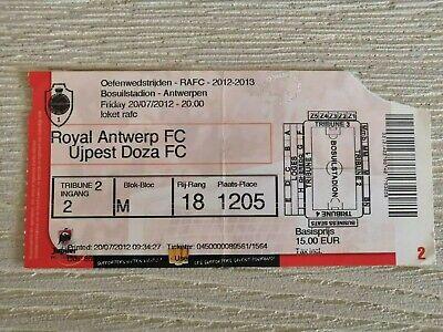 Ticket Royal Antwerp FC - Valenciennes & Ujpest Dosz 2012 Amicale Oefen