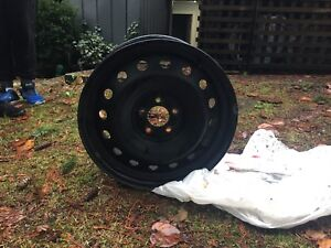 18 inch black steel rims in good condition
