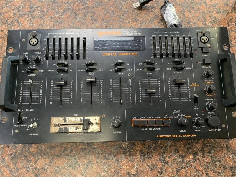Vintage Gemini PDM 6008 4-Channel Preamp Mixer Digital Sampler DJ Tested Works R