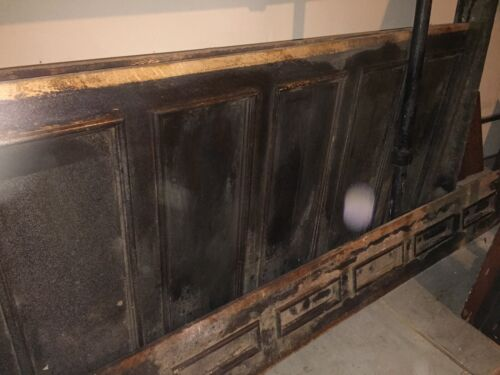 "Tiger Oak wood panel  Wainscot Architectural  Antique 90""x 45"""