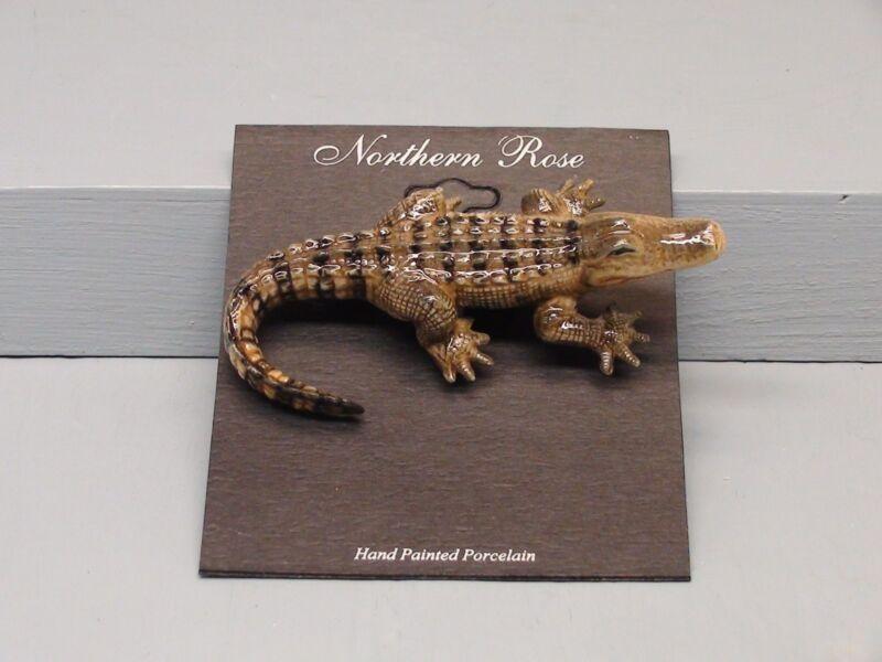 Beautiful Northern Rose Alligator Pin
