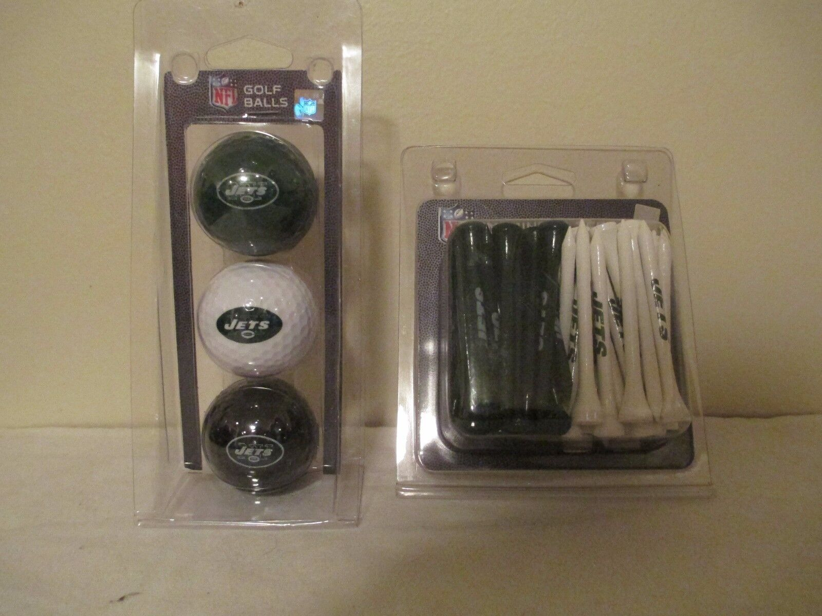 New York Jets 3 Pack Golf Balls & 50 Pack Team of Tees! NEW