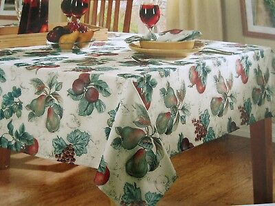 Autumn Grove Tablecloth Fall Harvest Fruit Orchard Thanksgiving Polyester Nip