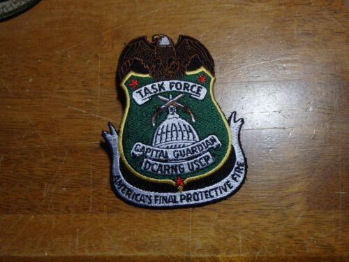 TASK FORCE CAPITAL  GUARDIAN DCARNG USCP WASHINGTON DC SWAT TEAM Patch BX 11#7