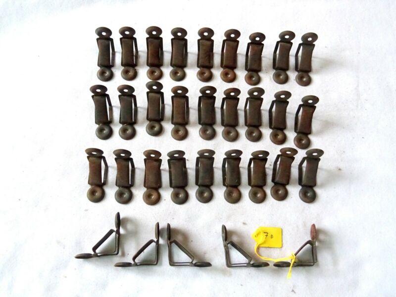 7D). Vintage Stair Rod Bracket. Price is per bracket. Triangular for wood rods.