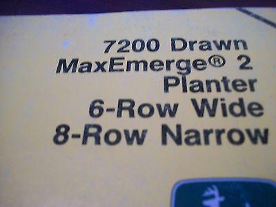 John Deere Operators Manual 7200 Drawn Maxemerge2 Planter 6row Wide 8row Narrow