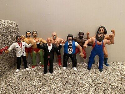 """Vintage LJN Wrestling Figure 8"""" WWF Action Figures Lot of 10 RARE Funk Variant"""