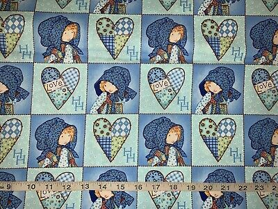 NEW Discontinue Holly Hobbie Patchworks 100% Cotton Sold By FQ(Fat Quarter)