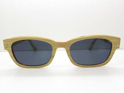 WOODEN RECTANGULAR HORN-RIMMED EYEGLASSES FRAMES eyewear retro ~49-19-150 (Wooden Eyewear Frames)