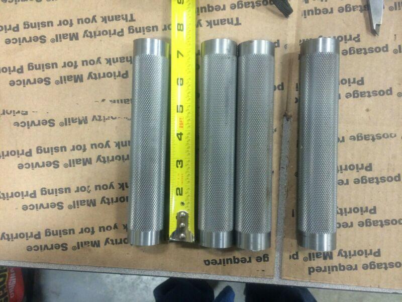 "4 pcs 1-5/16 DIAMETER KNURLED METAL TUBING ROD BAR HANDLE (1-1/16 ID) 7"" LONG"