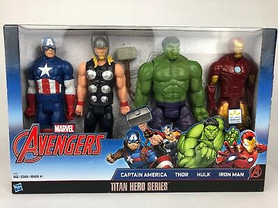 Marvel Avengers Titan Hero Series 4-Pack Captain America Thor Hulk Iron Man