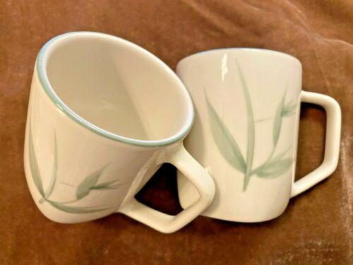 "Set of 2 ~ Winfield ""Bamboo"" Mugs ~ True Porcelain ~ Made in U.S.A. ~ Mint Cond."