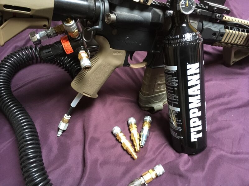 Polarstar, Wolverine, HPA AIRSOFT adapter for standard compressor use