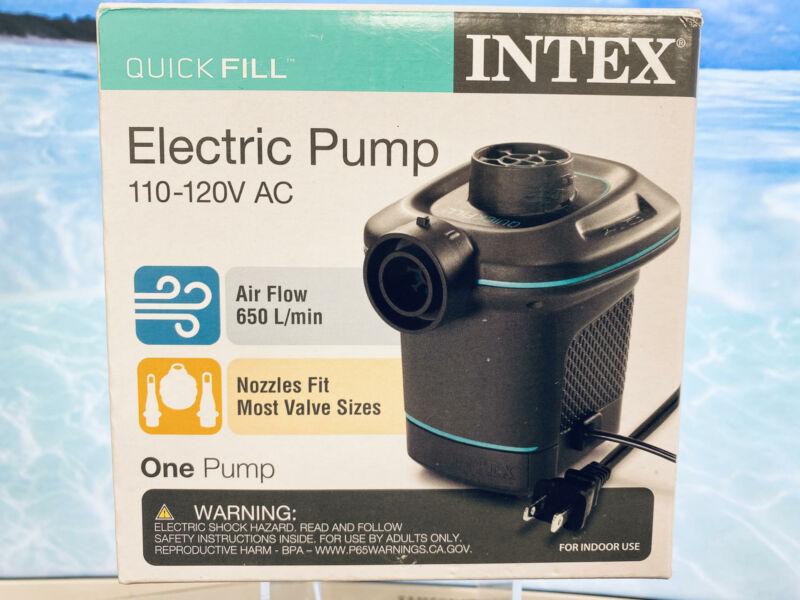 Intex 66639E 120V Quick Fill AC Electric Air Pump w/ 3 Interconnected Nozzles