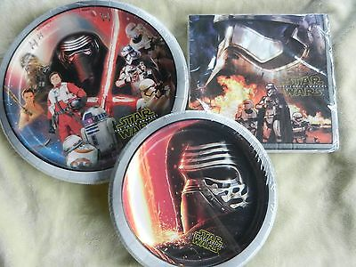 Star Wars Birthday Party Plates Napkins Desert Plates Disney - Star Wars Party Plates