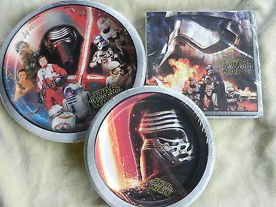 Star Wars Birthday Party Plates Napkins Desert Plates Disney - Star Wars Paper Plates