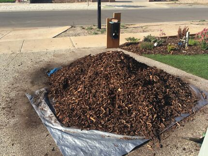 Landscapers mulch