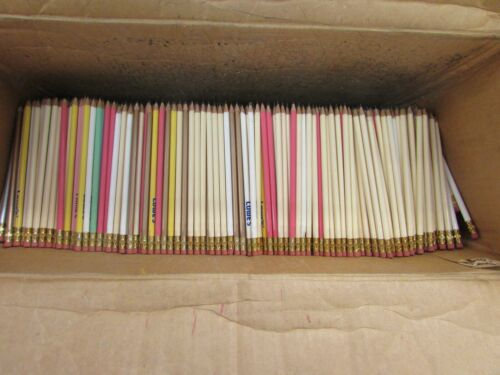 BULK LOT OF (200) PRE SHARPENED #2 LEAD WOODEN PENCILS w/ ERASERS