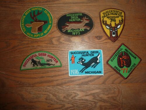 MICHIGAN SUCCESSFUL DEER HUNTING PATCH 1972 THROUGH 1977 CHOICE OF 1