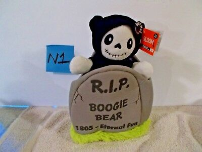 Halloween Boogie Song (BOOGIE Bear Animated Song Tombstone Halloween Skeleton)