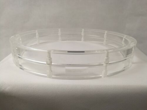 """Clear 14"""" 10 Holes Acrylic Snare Drum Hoops Pair"""