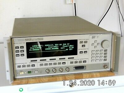 Agilent Hp 83620b Wopt.s 001 008 Synthesized Sweeper 10 Mhz To 20 Ghz Caled