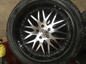 Black and crome deep dish rims